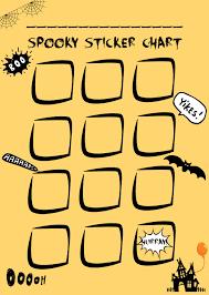 Sticker Reward Chart Printable Free Sticker Chart Free Halloween Printable Mums Days