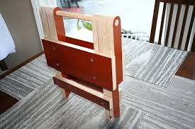 folding step stool chair plans wooden simple