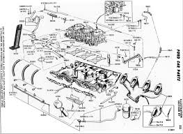 Ford 6v carburetion technical information ford thunderbird accelerator linkage and related parts engine diagram
