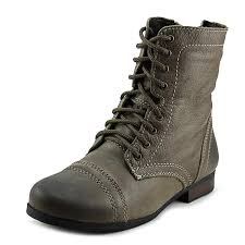 steve madden jtroopa youth us 13 brown combat boot girls shoes boots steve madden sneakers dsw steve madden flats with rhinestones uk