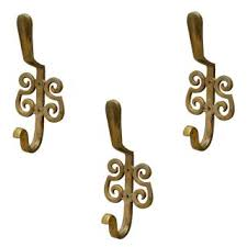 metal hooks for hanging. casa decor set of 3 french arcade wall hooks hanging clothes hat coat robe hangers metal for