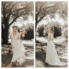 dreamy simple bohemian wedding dresses handmade for the