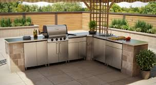 Kitchen Outdoor Kitchen Cabinets Stainless Steel With Luxury Ideas