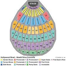 Hollywood Bowl Seating Chart Hollywood Bowl In Hollywood