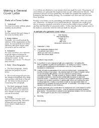 General Cover Letter Resume Sample General Cover Letter Free Download