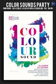 Party Flyer Fascinating Color Sounds Party Flyer Concert Futuristic Download