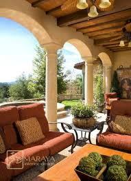 italian tuscan style patio back porch design ideas and home decor
