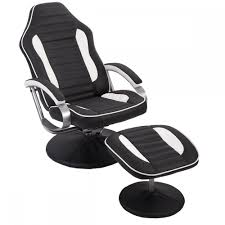 gaming chair. New Comfortable PU Recliner Chair Relax Racing Gaming W/ Footrest 81