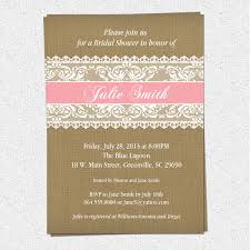 Burlap And Lace Bridal Shower Invitations Rustic Pick Your