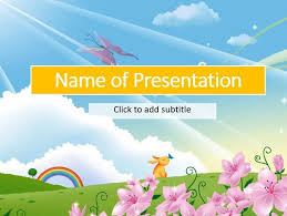 Kids Powerpoint Background A Fairy Tale Childs Template For Presentation Free