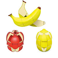 Cubelelo <b>Fruit Shape</b> Lemon <b>Apple</b> & Banana Cube Combo <b>Puzzle</b> ...