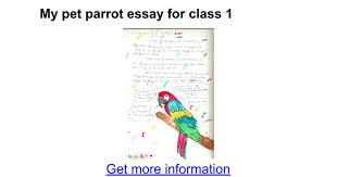 my pet parrot essay for class google docs