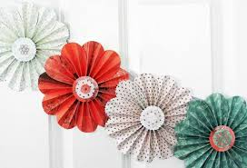 Small Picture SO cute paper flowers garland coral green party home decor photo
