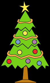 Vector Of A Cartoon Happy Lady Decorating A Christmas Tree Christmas Tree Outline Clip Art