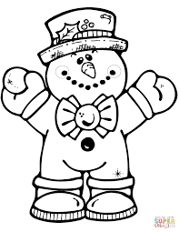 Small Picture Hugging Snowman Coloring Page Free Printable Pages For diaetme