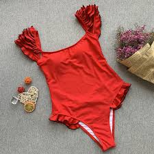 New <b>Sexy Scoop Neck</b> One Piece Bathing Suit High Cut Swimsuit ...
