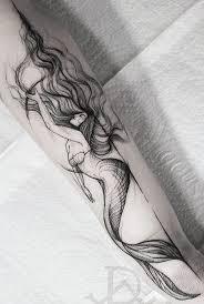Water Ocean Mermaid Tattoos эскизы тату татуировка русалка