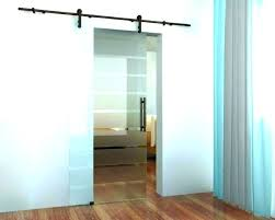 barn door with glass interior doors frosted style tub enclosure barn door with glass