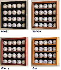 20 baseball display case cabinet holder wall rack w uv