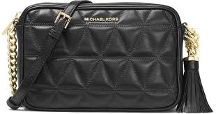 Lyst - Michael michael kors Ginny Medium Quilted Camera Bag in Black &  Adamdwight.com
