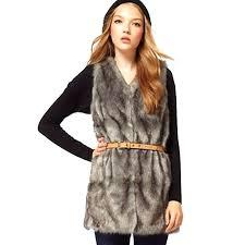 plus size faux fur coats women brown plus size faux fur vest special slim long fur coat women rabbit fur vest long coat in on las