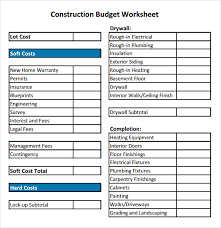budget sheets pdf construction budget sample 8 documents in pdf excel
