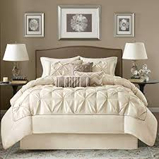 white and cream bedding.  And OSD 7pc Ivory Cream Puckered Comforter Queen Set White Pintuck Solid Color  Adult Bedding Master Throughout And N