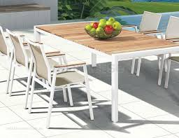 white outdoor table slick modern outdoor chair
