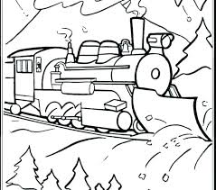 Coloring Polar Express Coloring Pages Printable Train Picture