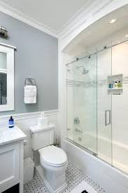 shower curtain or glass door transitional bathroom by home builders hang over ideas doors shower curtain or glass door