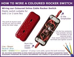 useful information for in line light switches Lamp Switch Wiring how to wire our coloured rocker switches lamp switch wiring diagram