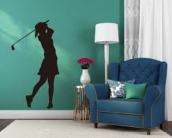 girl playing golf silhouette on golf wall art uk with girl playing golf silhouette modern wall art sticker