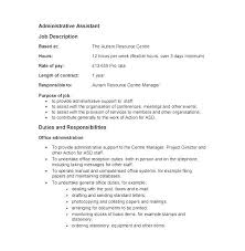 Admin Job Profile Resume Office Administrator Job Description Template Admin