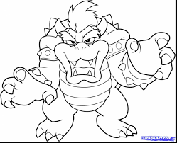 Small Picture brilliant mario and bowser coloring pages with mario coloring