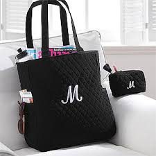 Personalized Quilted Tote Bag & Makeup Bag Set - 8250 | wedding ... & Personalized Quilted Tote Bag & Makeup Bag Set - 8250 Adamdwight.com