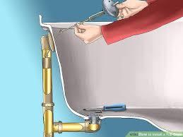 install bathtub drain image titled install a tub drain step 6 changing bathtub drain plug