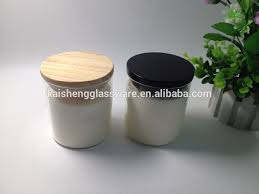 Unique Candle Jars Wooden Lids Wholesale And Glass Jar For Candle Making