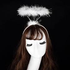 Fancy Hair Design Us 0 81 18 Off Creative Design Ladied Fluffy Halo Angel Headband Hair Accessories Fairy Fancy Dress Party Hairband In Womens Hair Accessories From