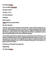 Leave Of Absence Letter Unique B