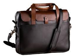 luxury leather laptop briefcase