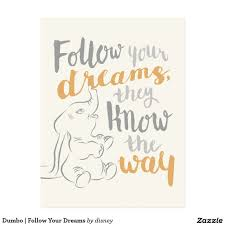 Dumbo Quotes Amazing Dumbo Follow Your Dreams Postcard Frases Pinterest Nursery