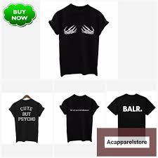 Black T Shirt <b>Women Tops Punk Cartoon</b> Cat Face | Shirts, Tops, Cat ...