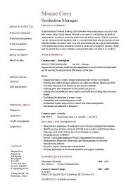 assembly line resume job description assembly line job description for resume production manager resume