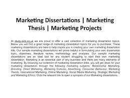Mba Marketing Dissertation Projects Pdf Download Project