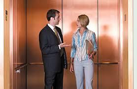 people in elevator. elevator speech people in