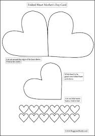 Photo Card Template Homemade Heart And Flower Card Craft For Kids Buggy And Buddy