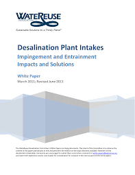 Design Guidelines Of Seawater Intake Systems Pdf Desalination Plant Intakes Impingement And