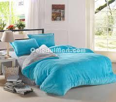 light blue and silver gray c fleece bedding teen