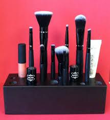 Handmade Wooden Makeup Brush Holder & Bathroom Organizer- Metallic Black.  $25.00, via Etsy