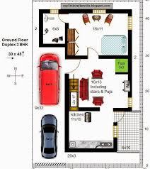 30 x 45 duplex house plans east facing